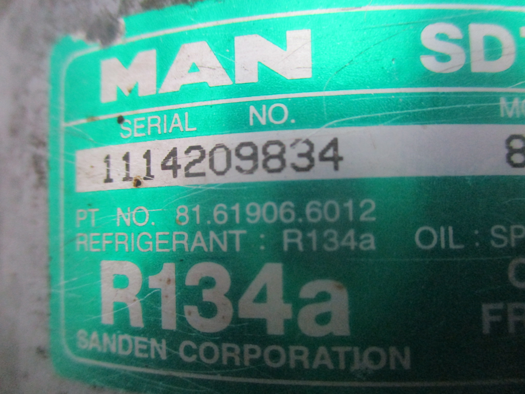Компрессор кондиционера D2676 MAN TGX, TGS, TGA